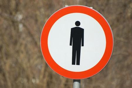 No pedestrians sign photo