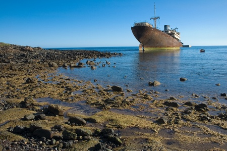 Wreck in Arrecife, Lanzarote, Canary Islands Stock Photo - 12835865