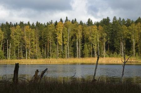 masuria: Polish lake district - Masuria in autumn Stock Photo