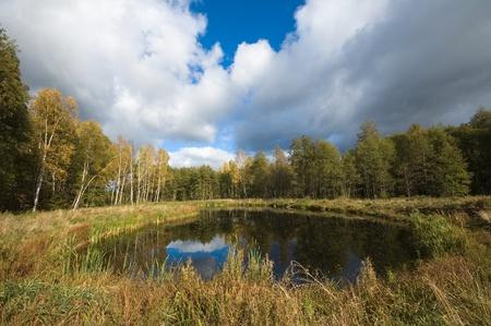 Polish lake district - Masuria in autumn Stock Photo - 13047870