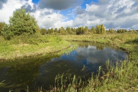 masuria: Meander of Wegorapa river, Masuria, Poland