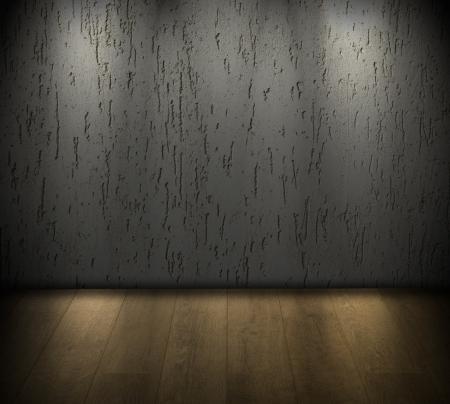 floodlit: Dark floodlit room background Stock Photo