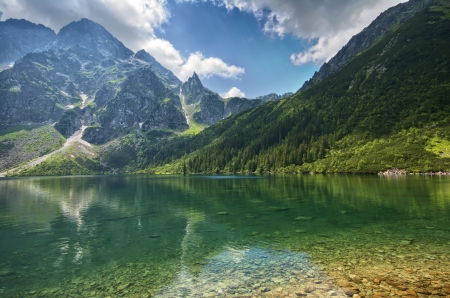 morskie: Morskie Oko lake in Tatra mountains, Poland Stock Photo