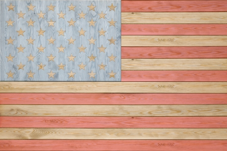 Abstract wooden American flag background photo
