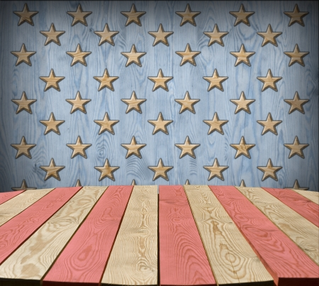 American symbol interior room with empty tabletop for Your idea photo