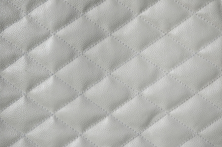 quilted: White quilted leather background