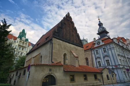 temple tower: Old-New Synagogue and Jewish Town Hall in Prague, Czech Republic