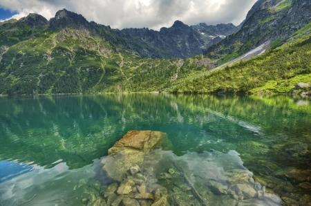 oko: Morskie Oko lake in Tatra mountains, Poland Stock Photo