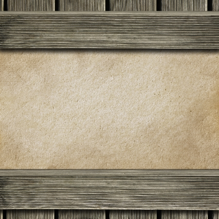 hardboard: Wooden frame with hardboard texture in the background