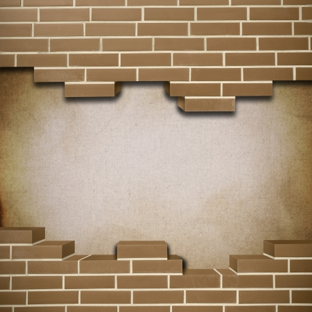 Vintage red brickwall with canvas texture in the background Stock Photo - 24206603