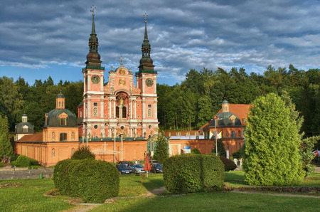 mazury: Baroque Marian Sanctuary in Swieta Lipka, Mazury - one of the most famous churches in Poland Stock Photo