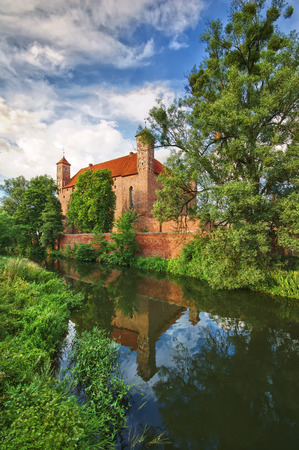 warmia: Medieval Gothic castle in Lidzbark Warminski, Poland
