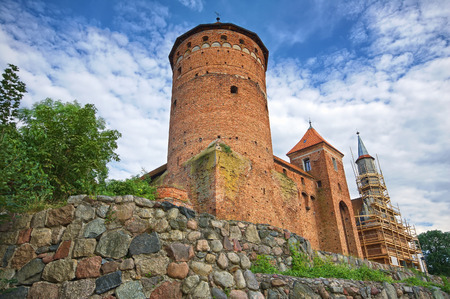 warmia: Medieval Gothic castle in Reszel, Poland