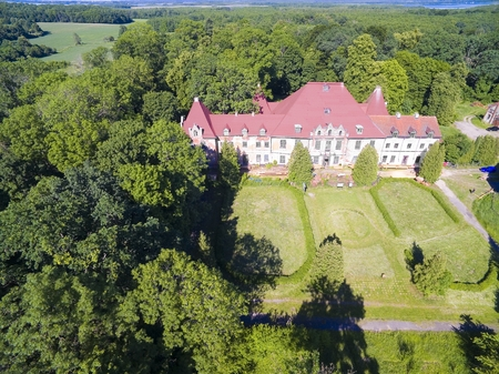 Ruined Baroque style palace in Sztynort, Poland (former Steinort, East Prussia). Built in 1689-1691, belonged to aristocratic Prussian family von Lehndorff