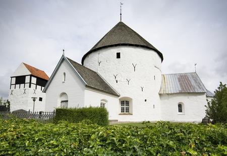 Defensive round church in Nylars, Bornholm, Denmark 写真素材