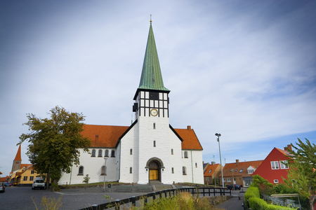 Old St. Nicolas Church in the center of Ronne town, Bornholm, Denmark