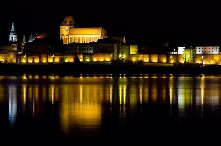 torun: Torun by night, Poland