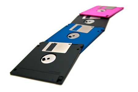 colored snake of floppy disks