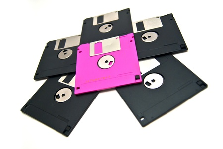 Star of the floppy Stock Photo