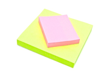 two stack of sticky notes on white