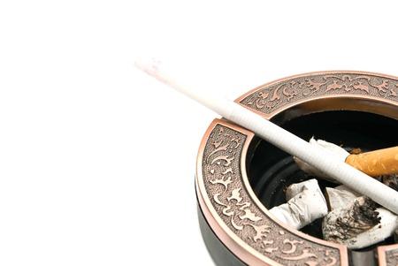 ashtray: ladies cigarette in the ashtray
