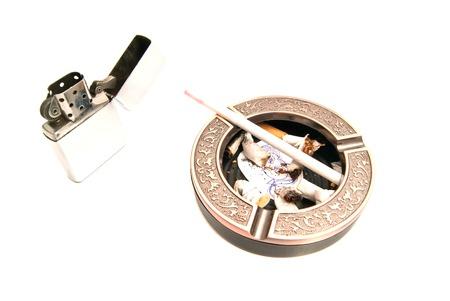 procreation: hazards of smoking for procreation closeup on white Stock Photo