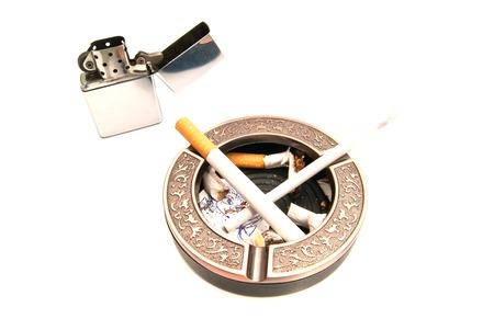 procreation: concept hazards of smoking for procreation closeup on white