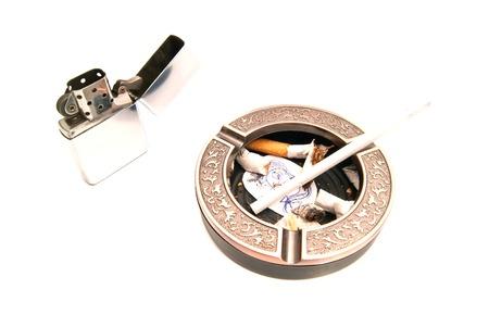 procreation: hazards of smoking for procreation on white closeup Stock Photo