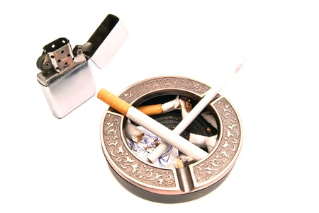 procreation: concept hazards of smoking for procreation on white closeup