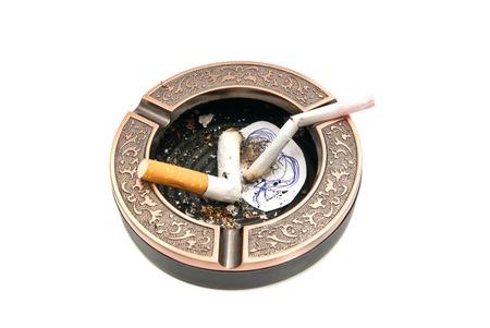 procreation: hazards of smoking for procreation concept on white background closeup Stock Photo