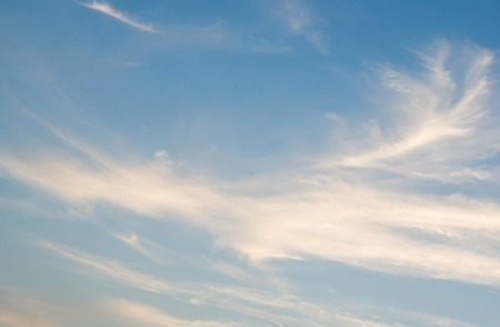 cirrus: beautiful cirrus clouds in deep blue sky Stock Photo