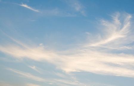 beautiful cirrus cloud in deep blue sky