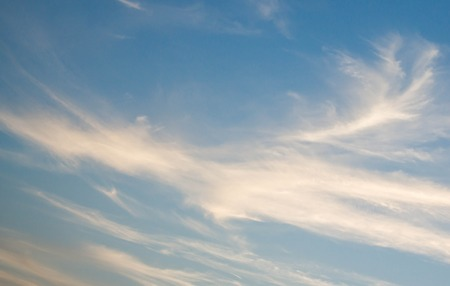 cirrus: beautiful cirrus clouds on deep blue sky Stock Photo