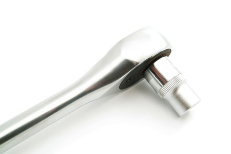 ratchet: ratchet with head on white background closeup