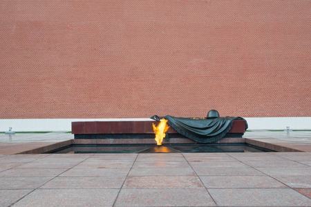 Eternal Flame at Kremlin wall in Moscow