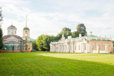 historic buildings in the estate on a summer day Editorial