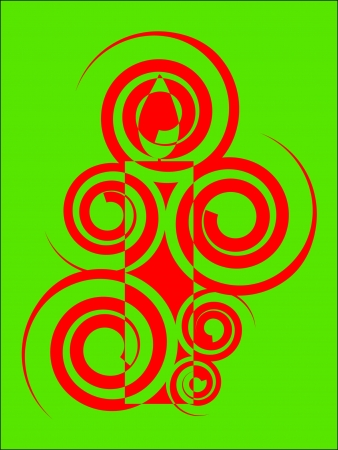 spiral pattern: spiral pattern candle greeting card design Illustration