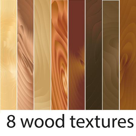 wood textures: Set of eight wood textures. Eight wooden textures. illustration.