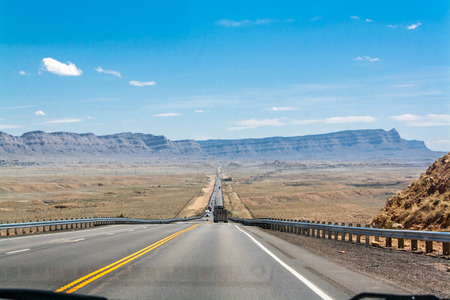 spellbinding: A highway to the mountains Stock Photo