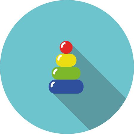 variegated: children icon variegated toy pyramid Illustration