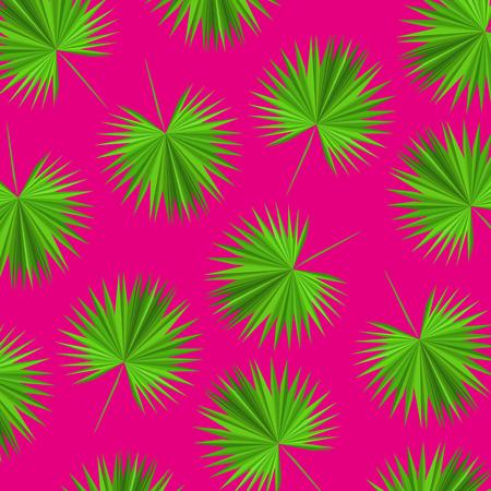 vector pattern triangular palm leaves Ilustração