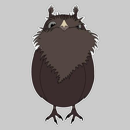 lVector Illustration cartoon bird Owl for your design Ilustração