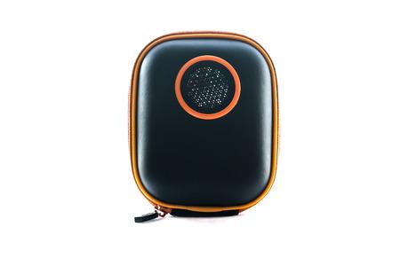 portative: portative black musical speaker Stock Photo