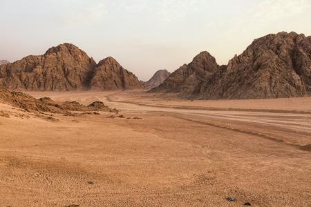 Sunset in Sinai Desert near Sharm El Sheikh