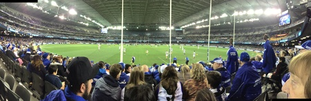 A night at the AFL football