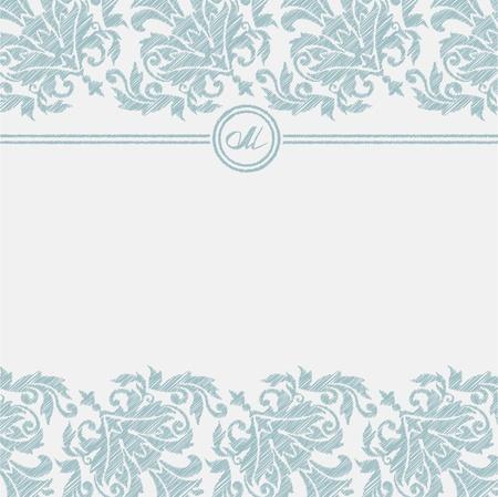 Classic ornamental invitation Ilustração