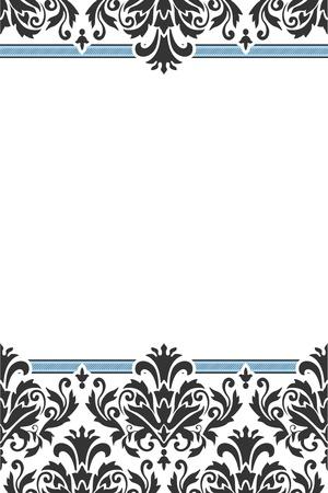 inbjudan: Klassisk orna inbjudan Illustration