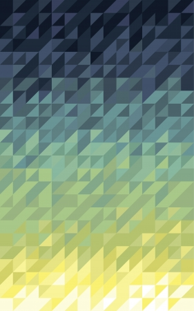Spectral triangle pattern, gradient from yellow to dark blue Illustration