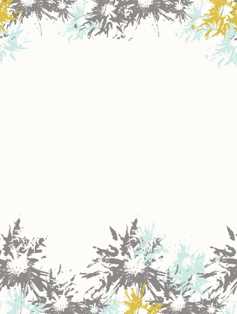 responce: Blue-grey abstract floral background, vector