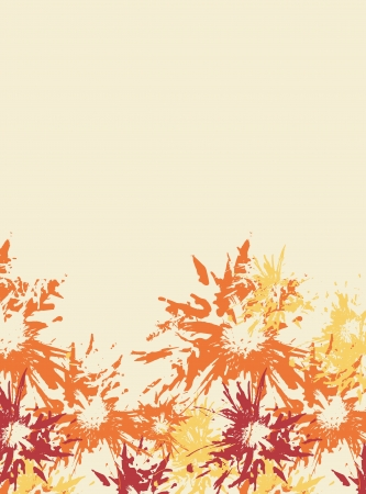 responce: Orange abstract floral background, vector